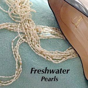 KJL Freshwater Pearl Necklace with 14K Beads